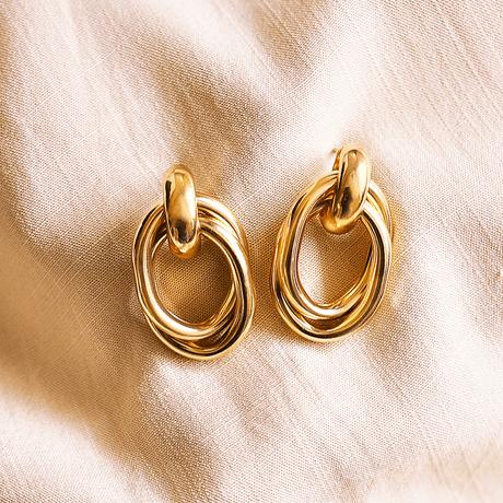 brinco-dourado-oval-brinco-ouro-circulos-brinco-medio