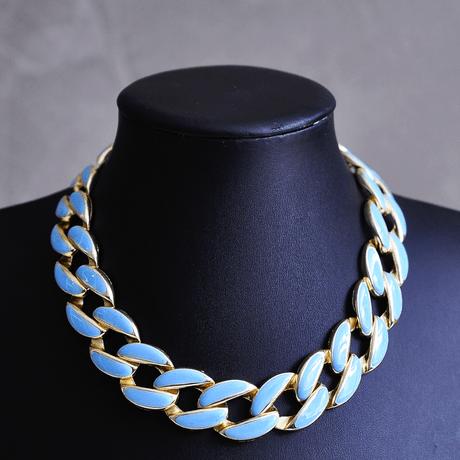 Maxi-Colar-Dourado-Elos-Esmaltados-Azul-Claro---00045503
