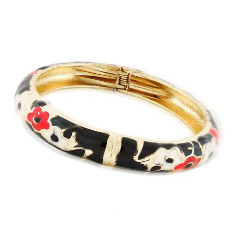bracelete-preto-dourado-flores-00046574