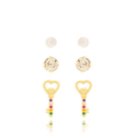 trio-brincos-dourado-chave-00047607